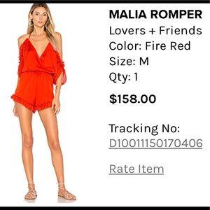 Red silk romper